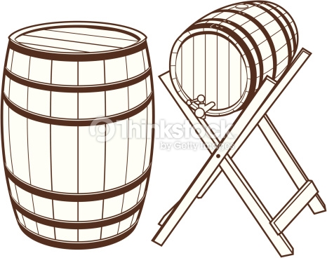 Wine Barrels Vector Art.