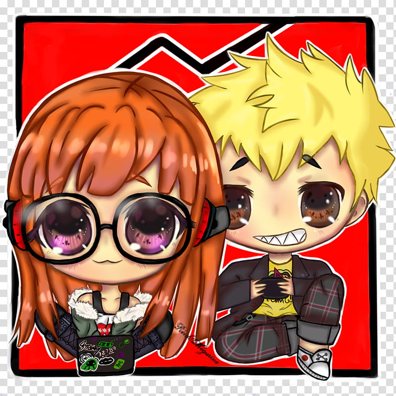 Futaba And Ryuji transparent background PNG clipart.