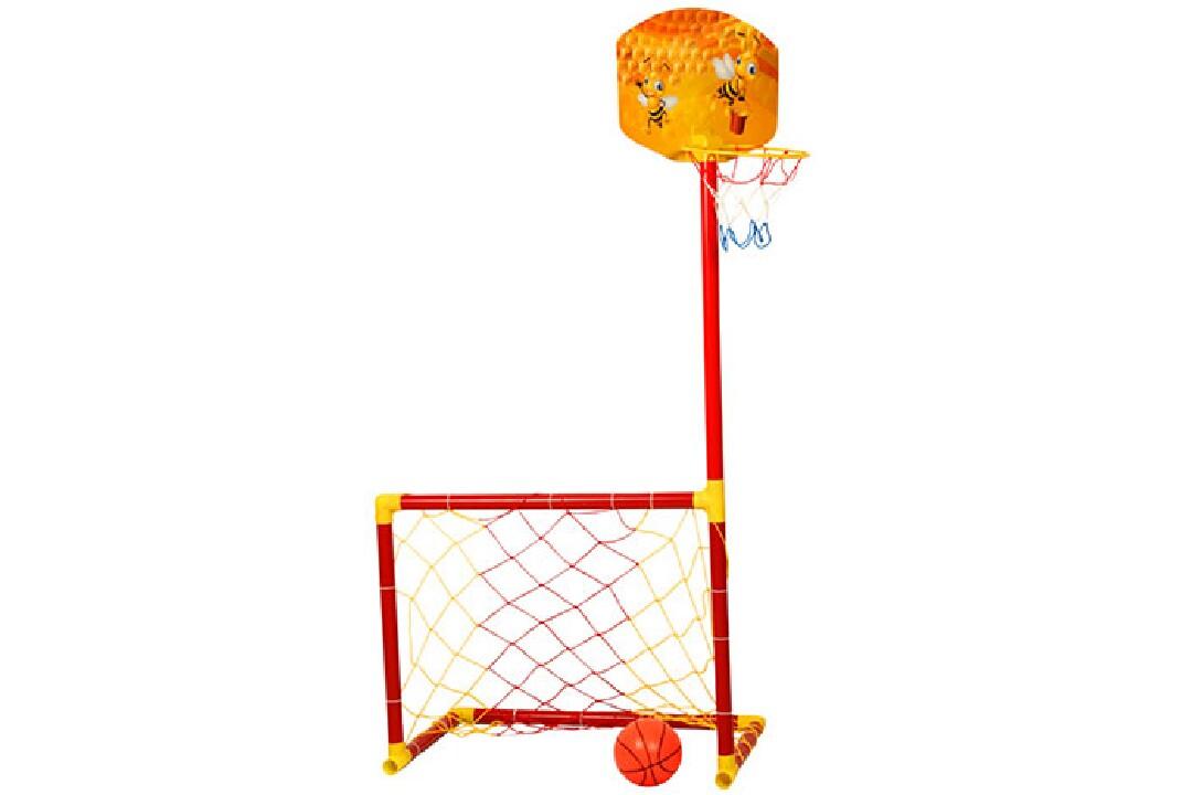 Portatif Futbol Kalesi Ve Basket Potası,1 Adet Top(2\'si 1.