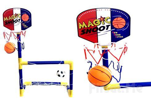 Çocuklarınız için Futbol Kalesi ve Ayaklı Basketbol Potası.