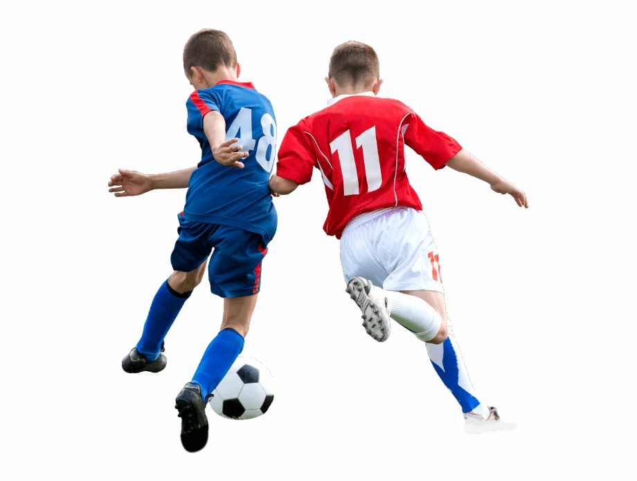 Jugando Futbol Png.