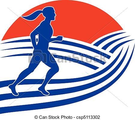 A futó, futás, női, maratoni futás.