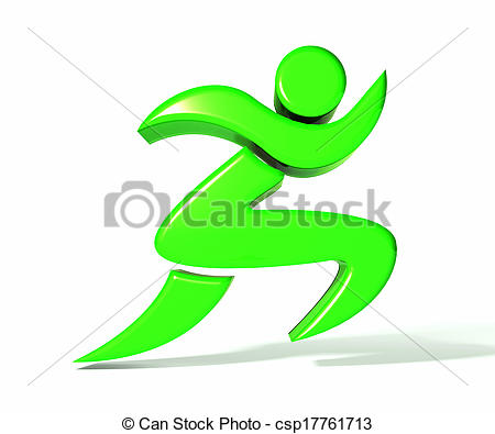 Clipart of Runner figure logo.