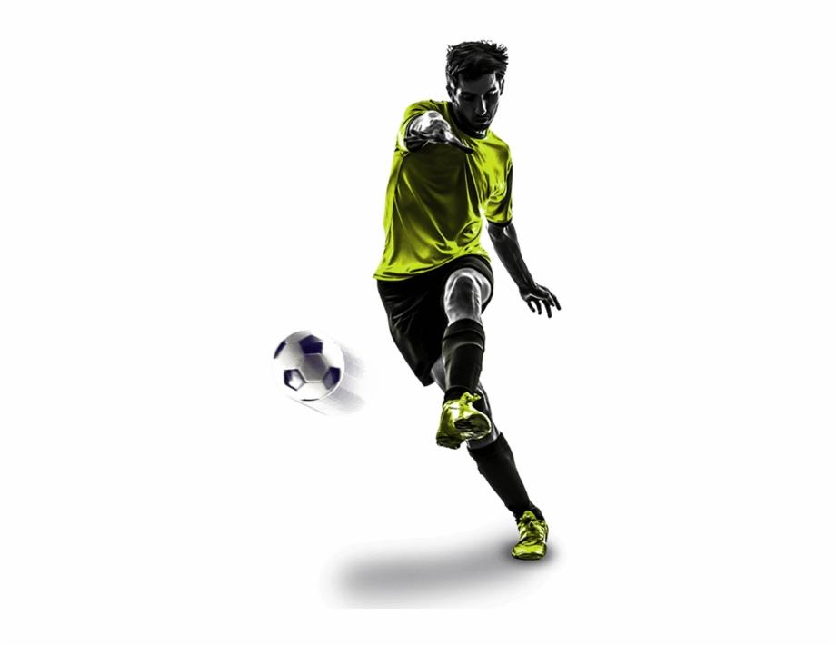 Jogador Chutando A Bola.