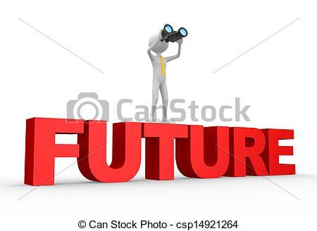 Binocular and word FUTURE.