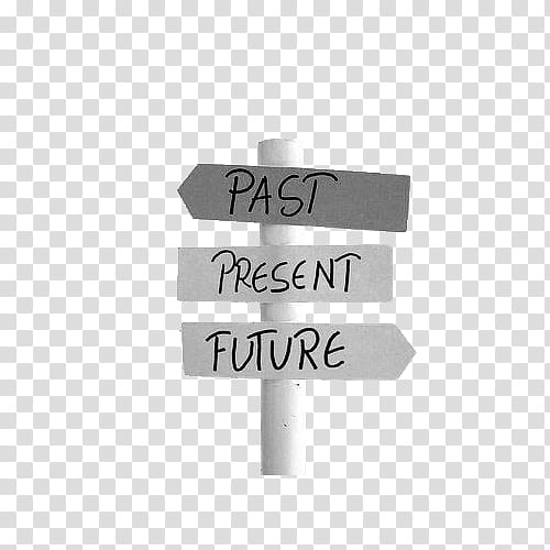 Past Present Future sign transparent background PNG clipart.