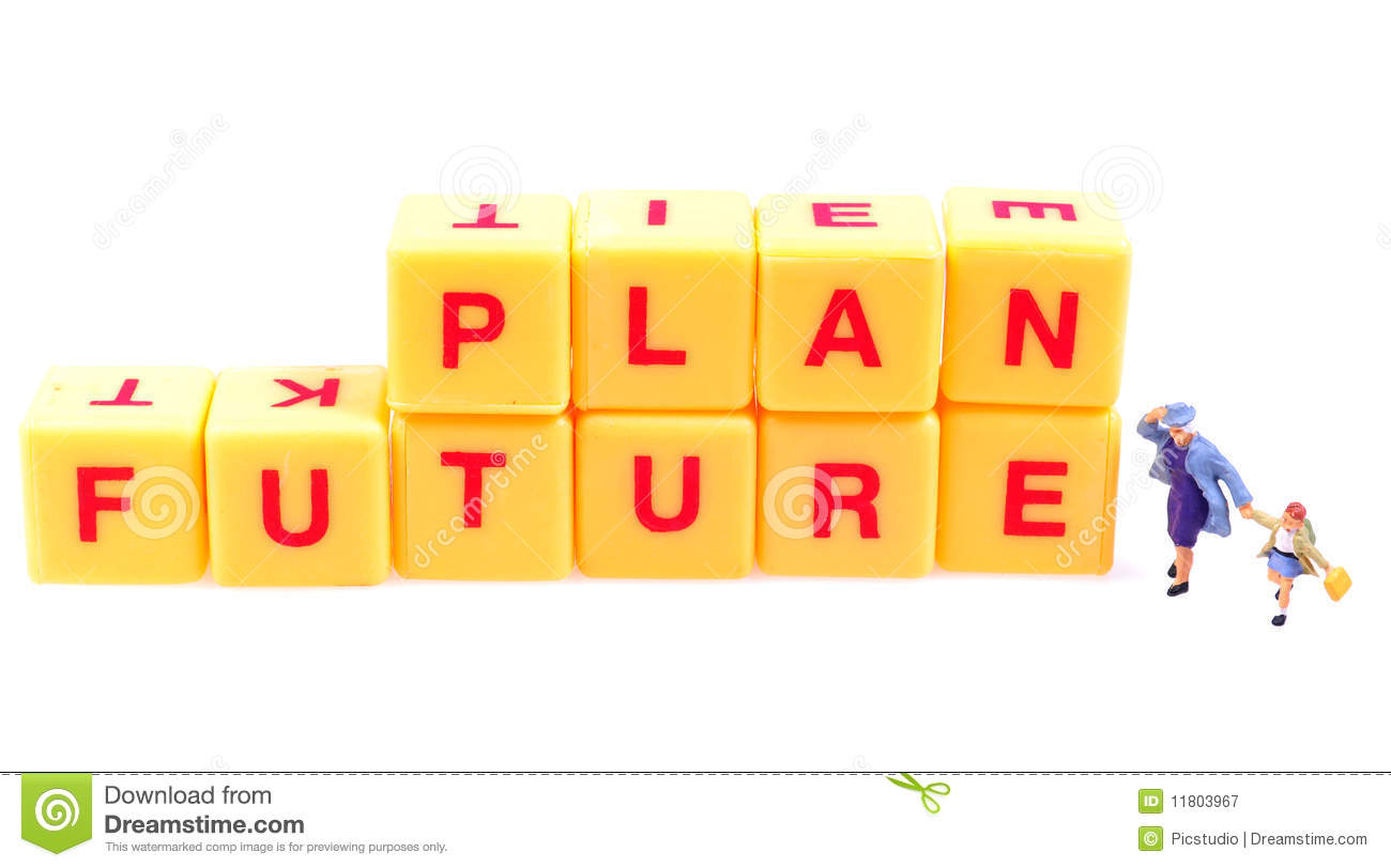 Future planning stock image. Image of planning, isolated.