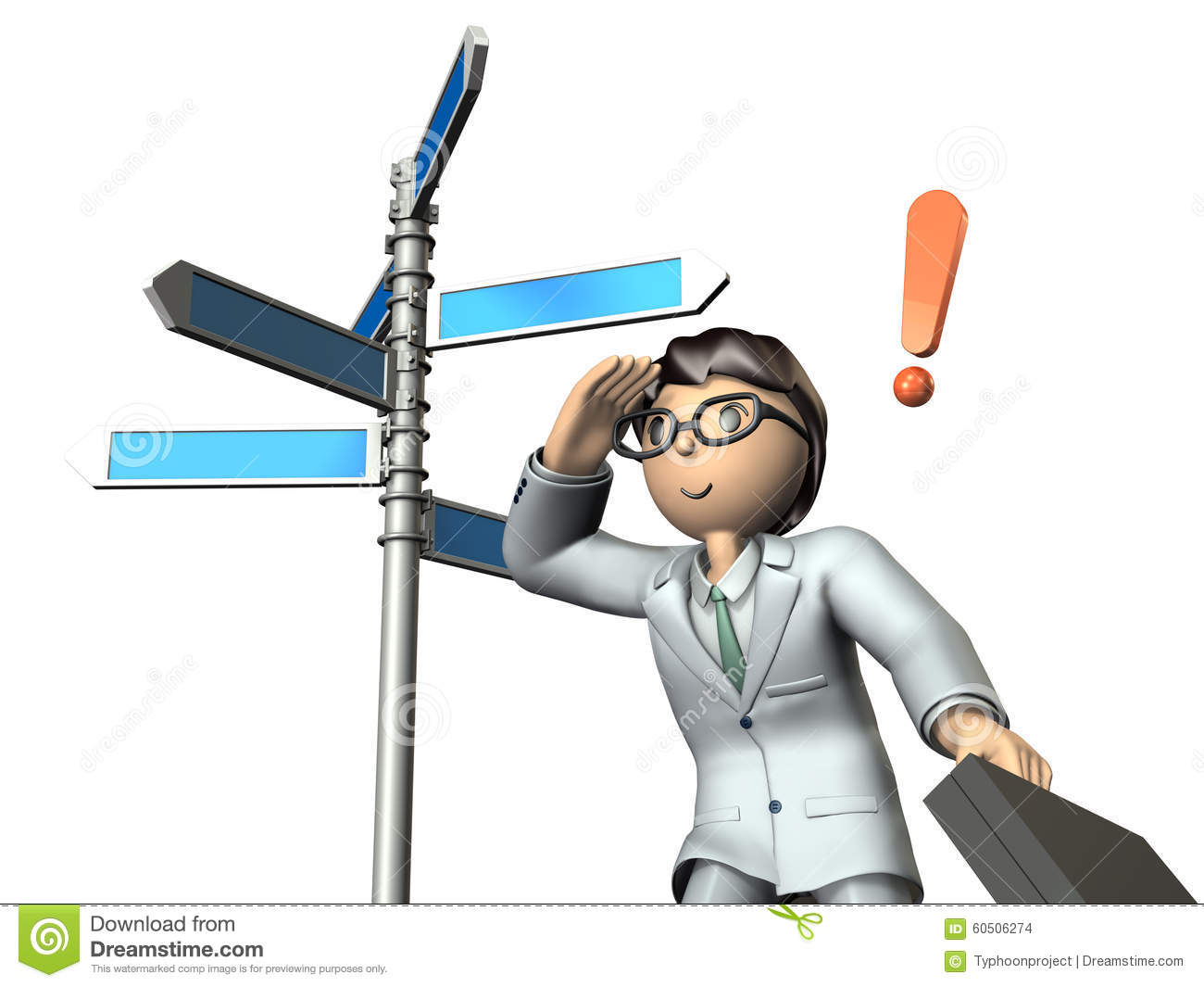 Businessman Has Predicted The Future Prospects. Stock Illustration.