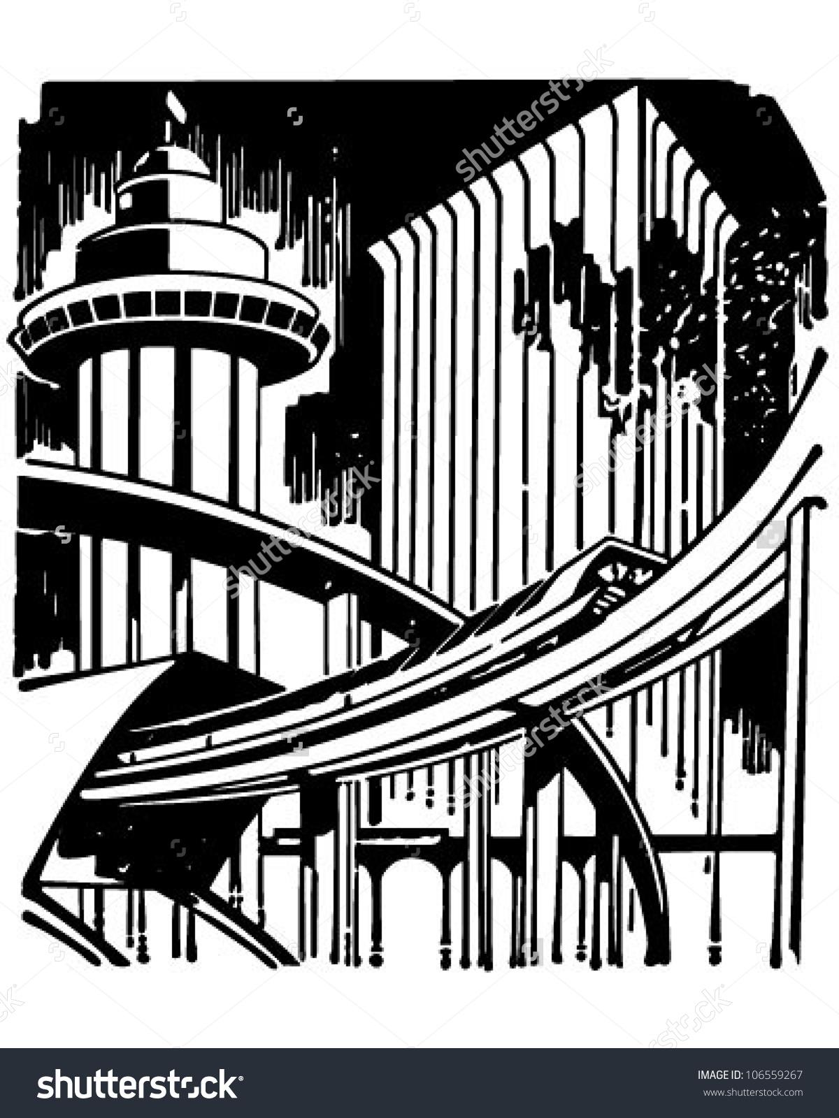 Futuristic City Clipart.