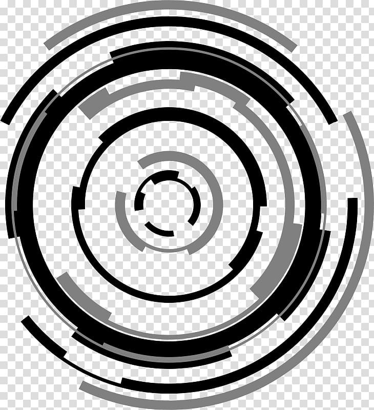 Technology Circle , futuristic transparent background PNG.