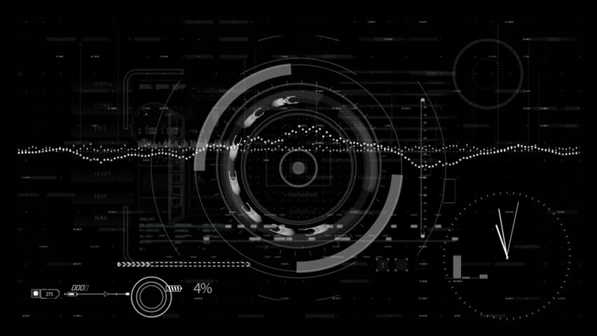 Looping Hud Elements Animation.png Alpha.futuristic Stock Footage Video  (100% Royalty.