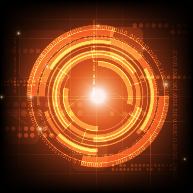 Abstract Digital Technology Background Futuristic Structure Elements.