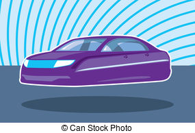 Clip Art of Hover car.