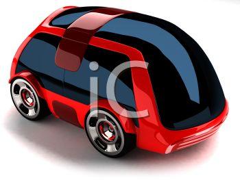 Futuristic 3D Car.