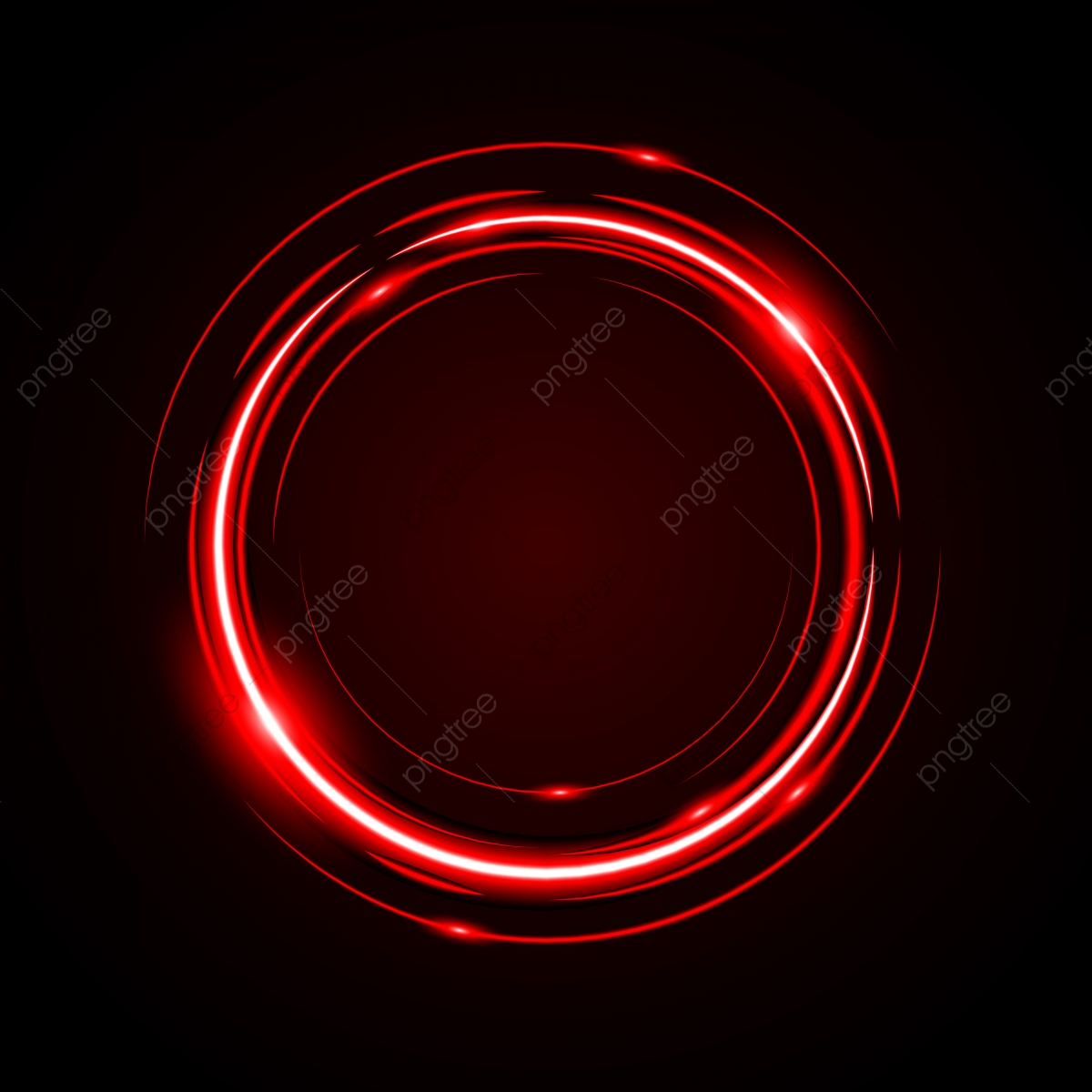Abstract Circle Light Red Frame Vector Background, Disc, Event.