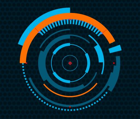 Futuristic Circle Png Vector, Clipart, PSD.