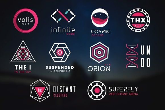 10 Futuristic logos pack by fortyfive on @creativemarket.