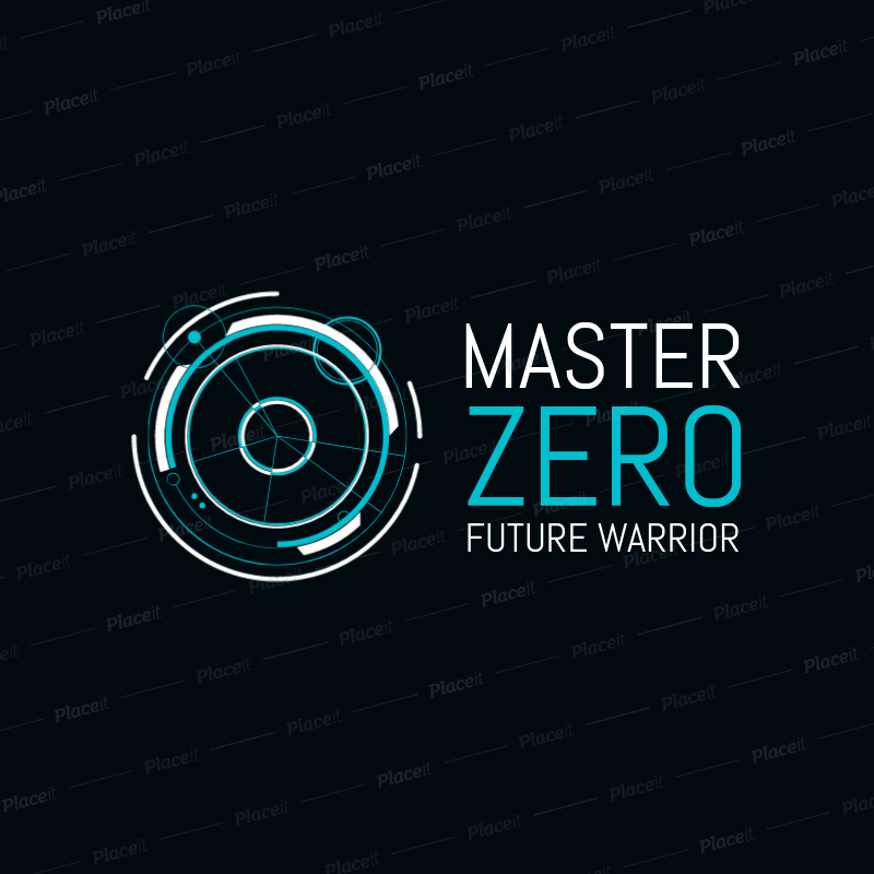 Gaming Logo Template with a Futuristic Design 2470.