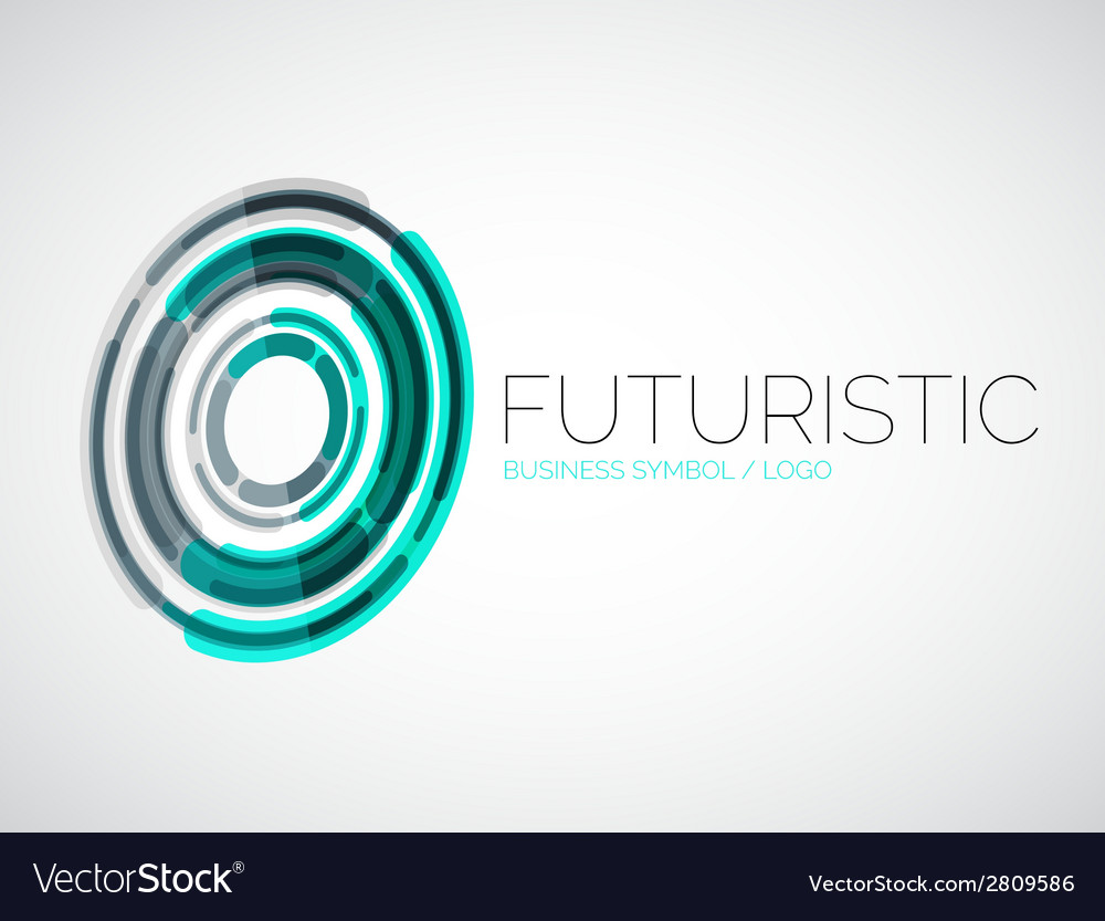 Futuristic circle business logo design.