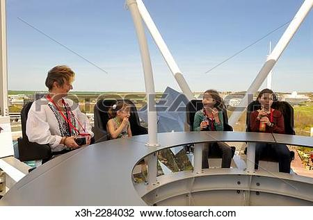 Stock Photo of Skybar, Futuroscope theme park, around Poitiers.
