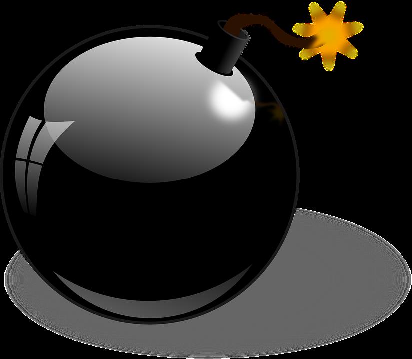 Free vector graphic: Bomb, Explosive, Detonation, Fuze.