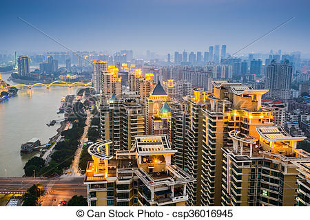 Stock Photo of Fuzhou China Skyline.