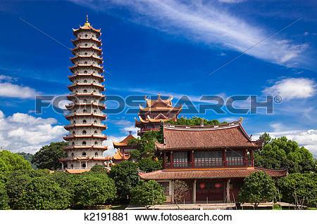 Stock Photography of Temple of Xichan in Fuzhou k2191881.