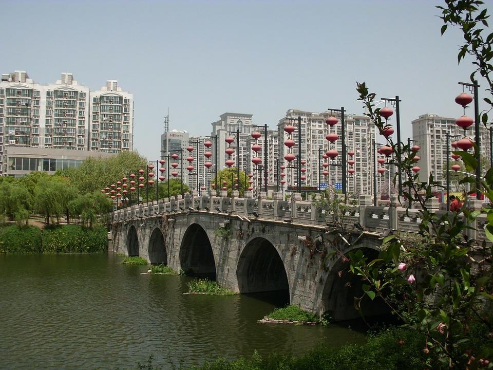 Free photo Bridge China Nanjing Fuzimiao Surroundings.
