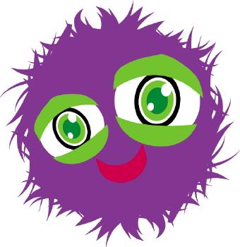 Fuzzy Green Monster Clipart.