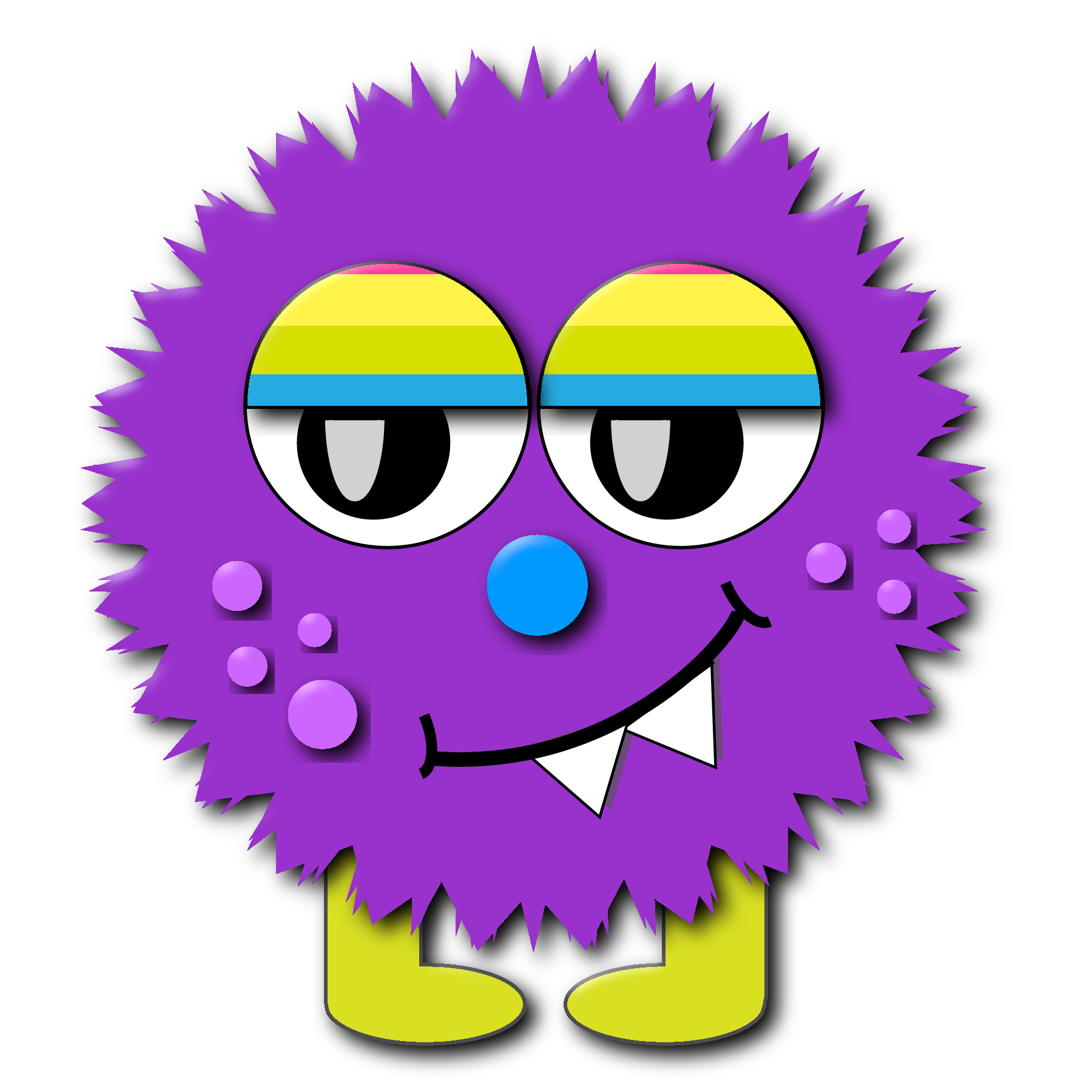 Fuzzy Monster Clip Art.