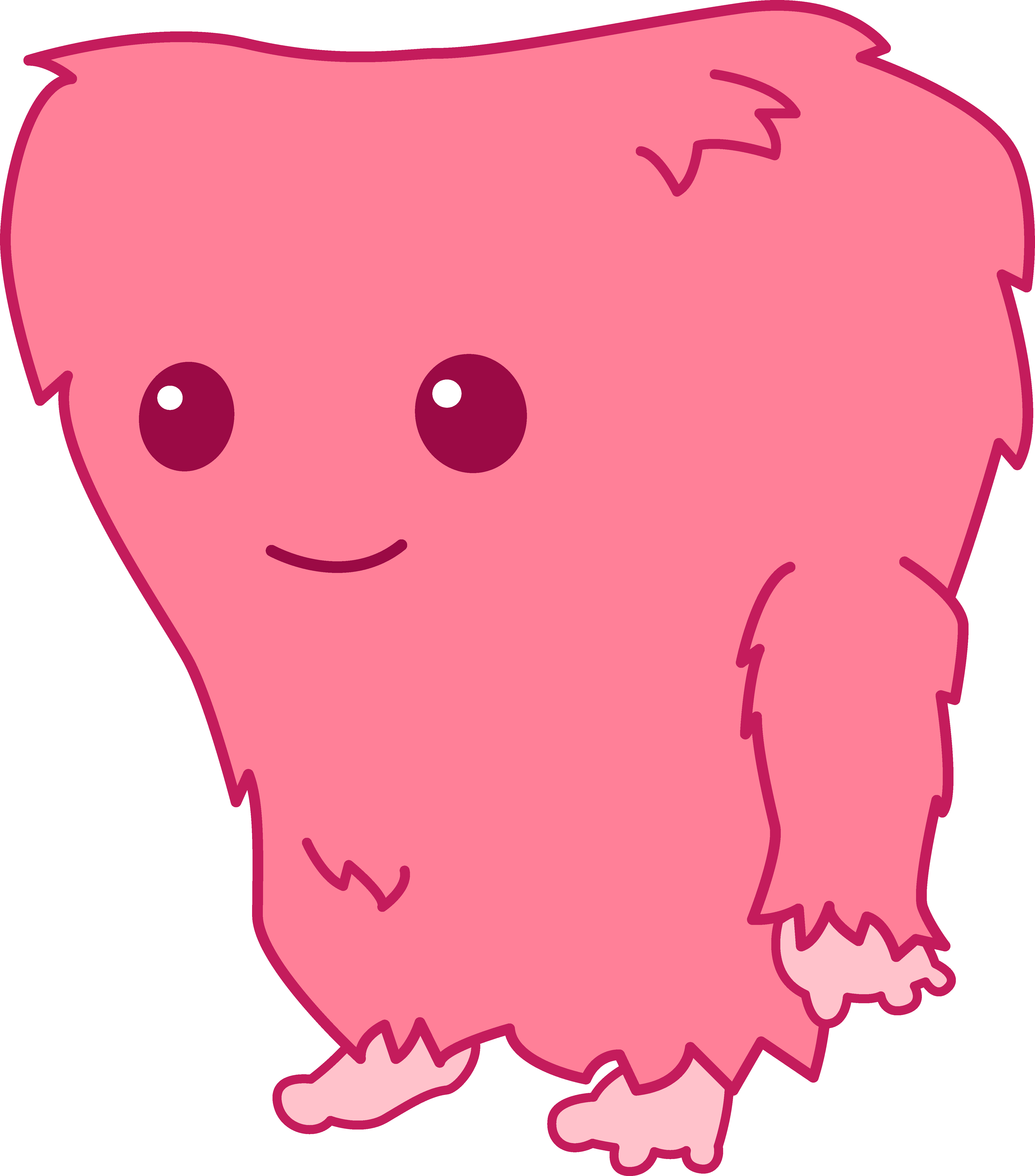 Fuzzy monster clipart.