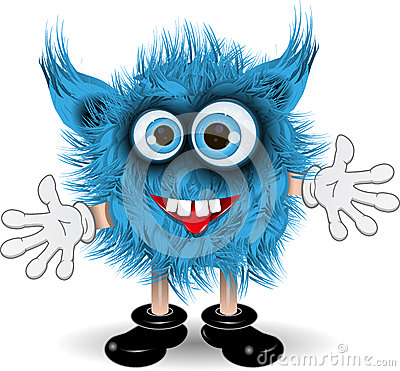 Blue Monster Stock Photography.