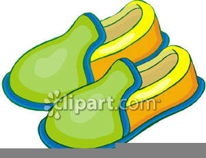 Fuzzy Slippers Clipart.