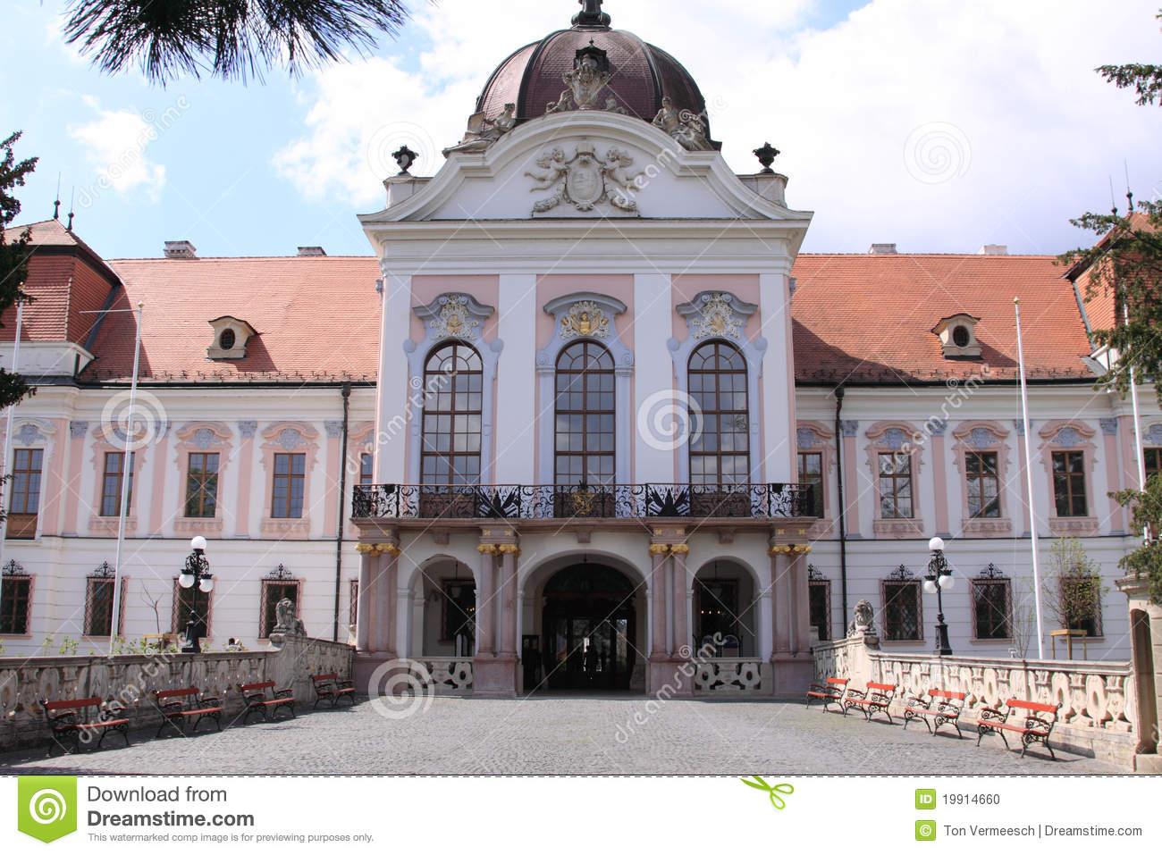 Castle Sissy Godollo Hungary Stock Photo.
