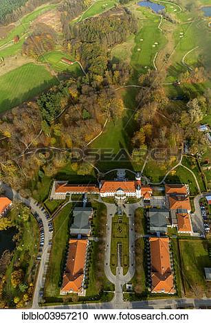 "Stock Photography of ""Aerial view, Radisson Blu Resort Schloss."