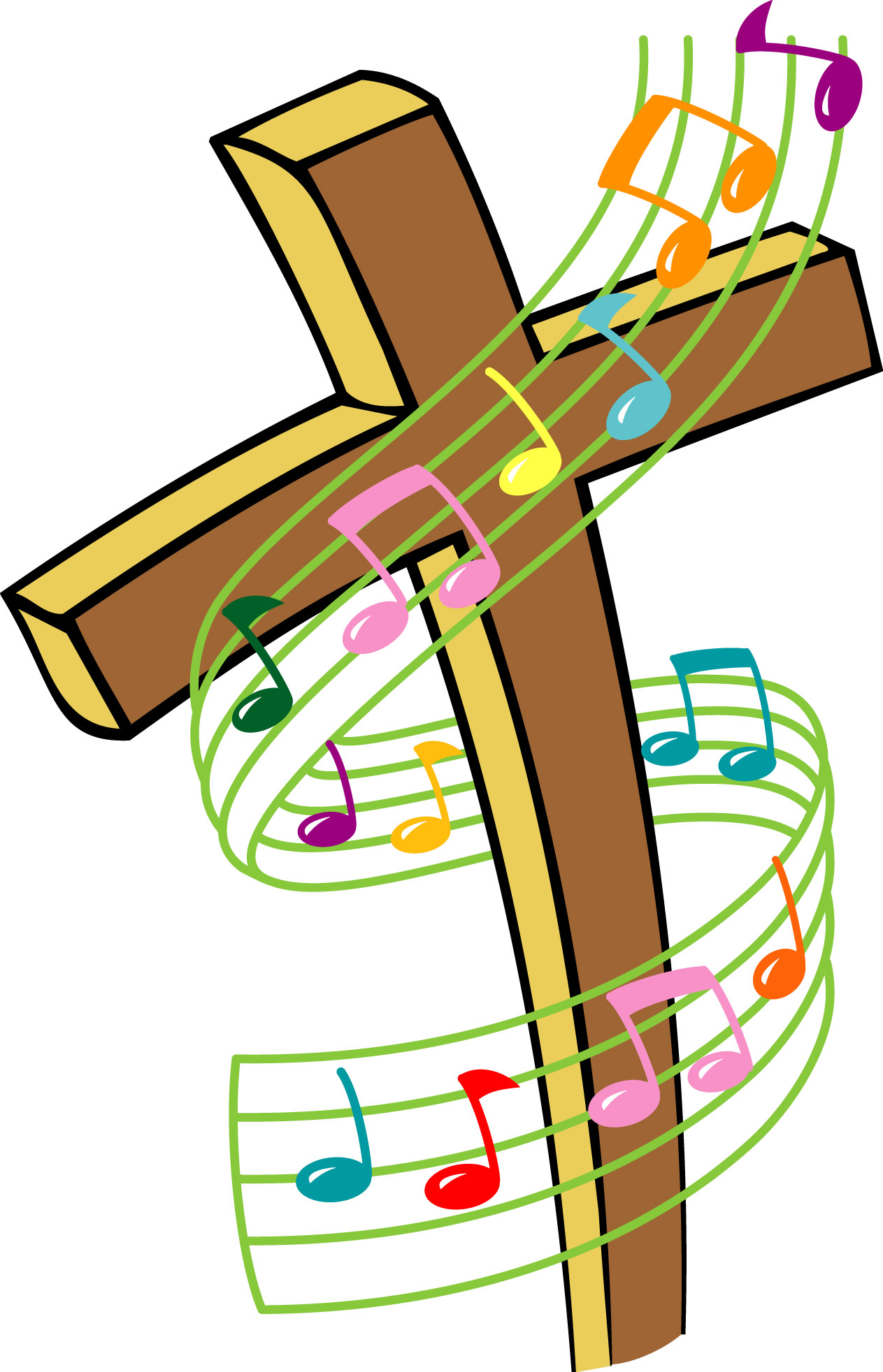 Free clipart images christian images of music.