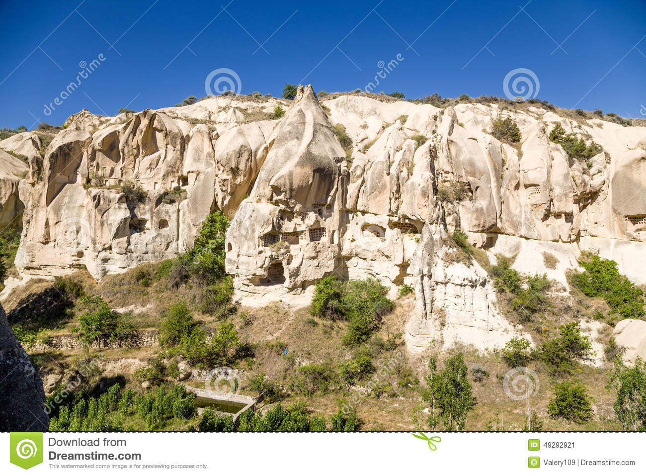 Cappadocia, Turkey. Goreme National Park: The Canyon Walls With.