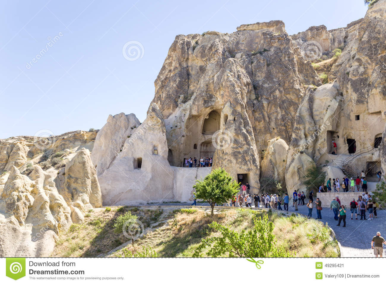 Cappadocia, Turkey. Ruins Of The Church In The Rock At The Open.