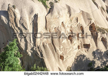 "Pictures of ""Houses digged in sandstone cliff, Zemi Valley, Goreme."
