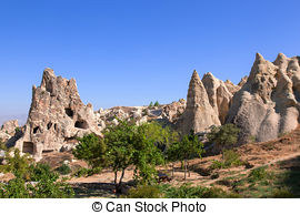 Stock Image of Cappadocia, Turkey. Goreme open air museum.