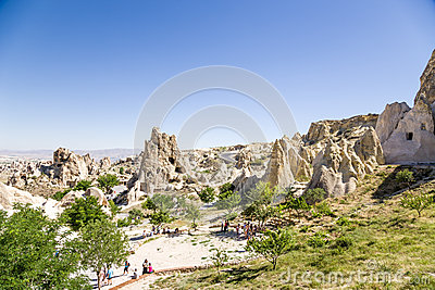 Turkey, Cappadocia. Cave Monastery Complex Open Air Museum Of The.