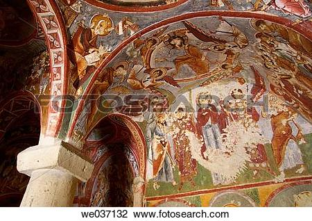 Stock Photo of Frescoes in the ?arikli kilise (Church of Sandals.