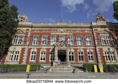 Stock Photo of Post Office, 1889, Gorlitz, Saxony, Germany, Europe.