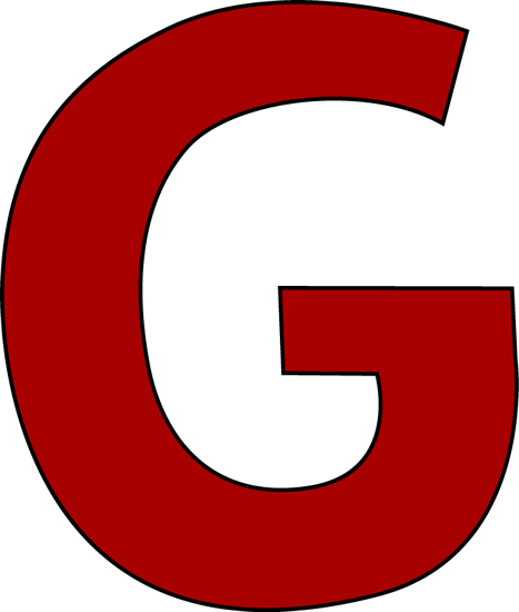 Letter G Clip Art Image.