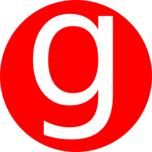 Red, Rounded, With G Clip Art at Clker.com.