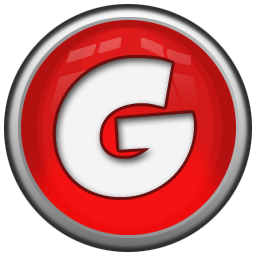 Red Letter G Icon, PNG ClipArt Image.
