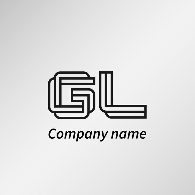 Initial Letter Gl Logo Template Template for Free Download on Pngtree.