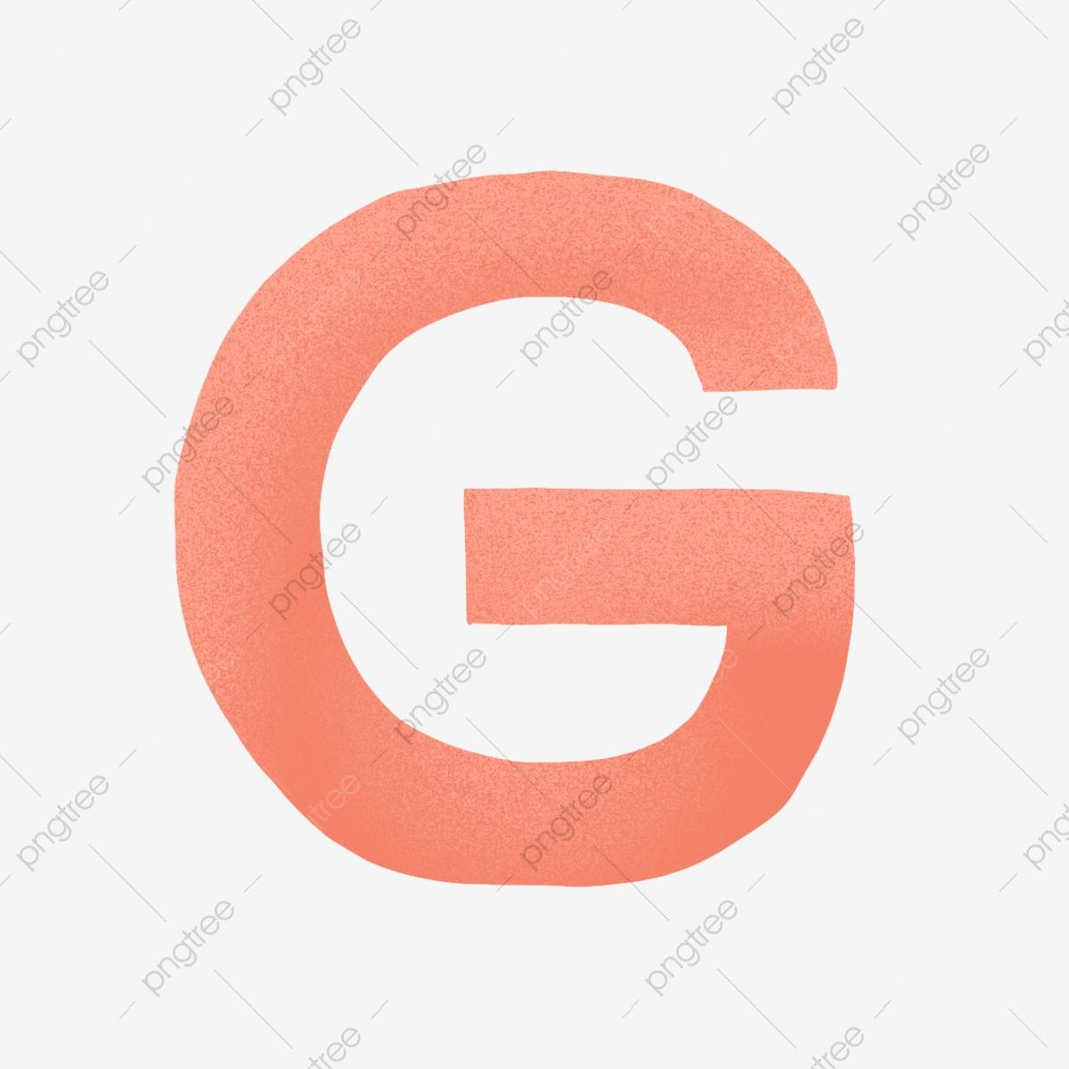 Orange Letter G Element Design, Orange, Simple, Letter G PNG.