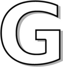 Capitol G White Clip Art Download.