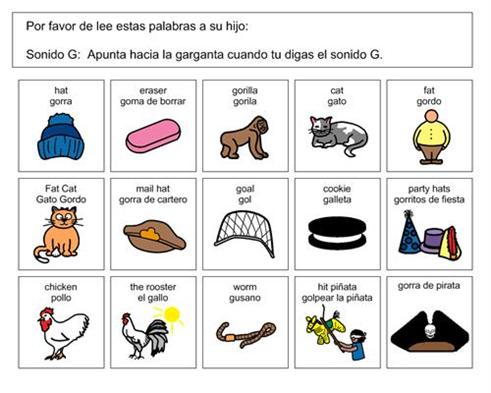 Spanish G Words.